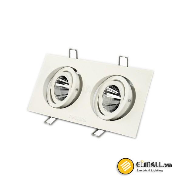 Đèn led âm trần 2x6W10W downlight GD022B Philips