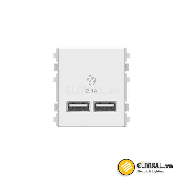 Ổ sạc USB đôi Zencelo A 8432USB_WE