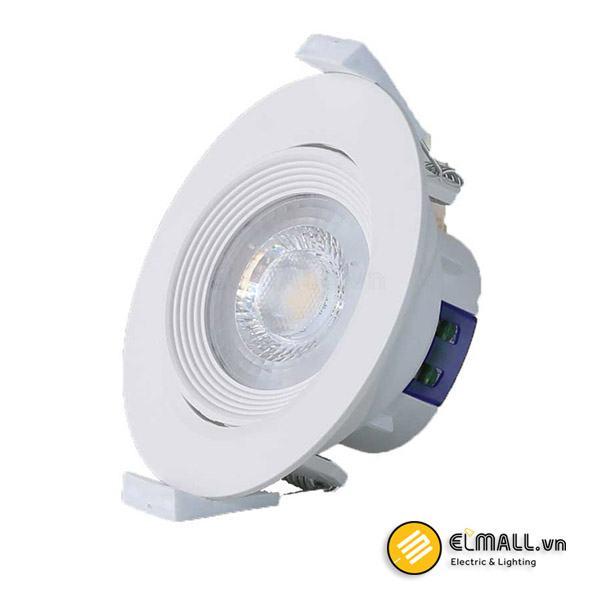 Đèn led âm trần 6.5W D76 D AT02L Xoay góc Rạng Đông