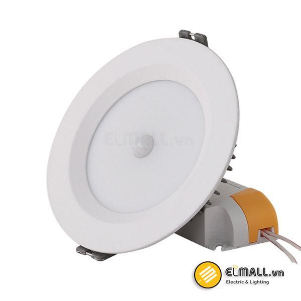 Đèn led âm trần 9W D110 D AT04L Cảm biến Rạng Đông