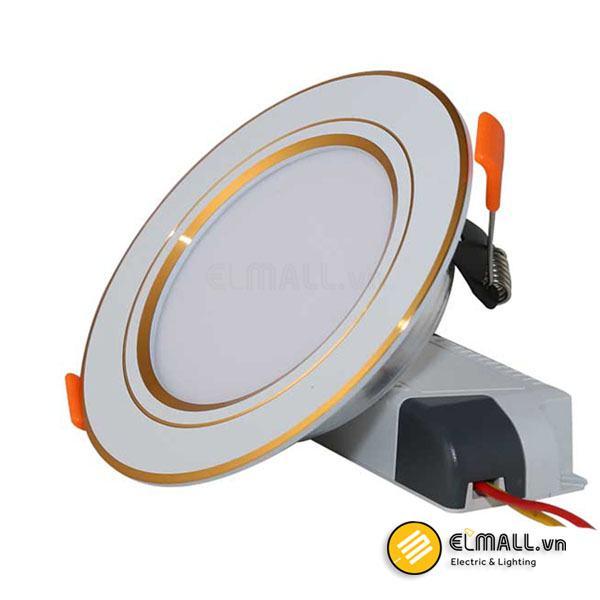 Đèn led âm trần 7W D90 D AT10L Viền Vàng Rạng Đông