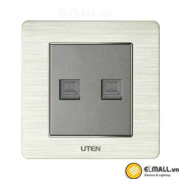 Bộ ổ cắm đôi mạng Uten V6-G-2PC