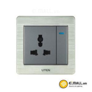 Bộ công tắc 1 chiều và ổ cắm 3 chấu Uten V6-VGK1113/N