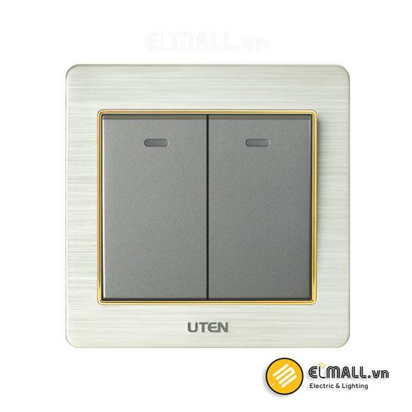 Bộ công tắc đôi 2 chiều Uten V6-PGK22