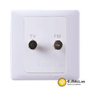 Bộ ổ cắm TV và FM 60486-50 Series 60 Simon