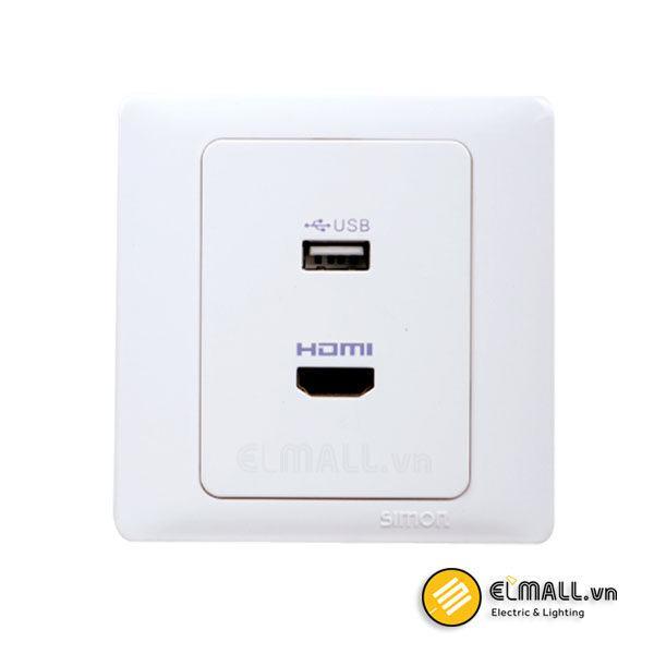 Bộ ổ cắm USB và HDMI 60494-30 Series 60 Simon