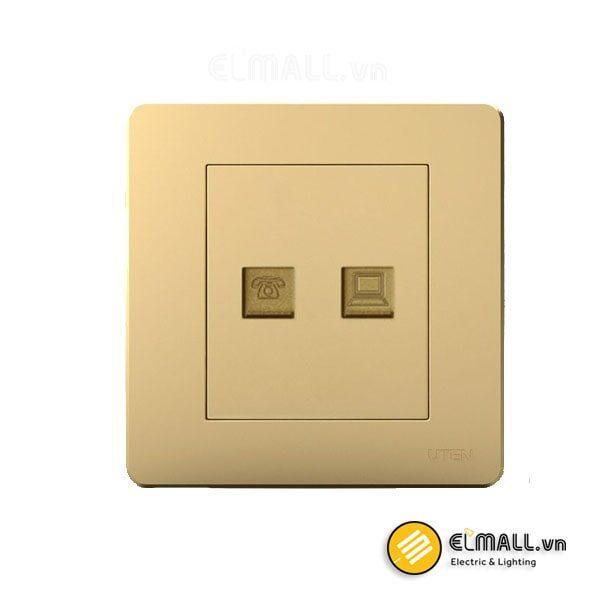 Bộ ổ cắm điện thoại và mạng Uten Q7-TEL/PC