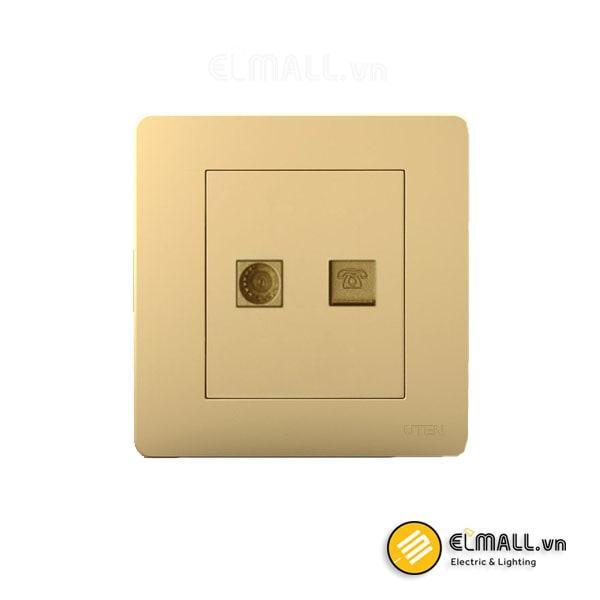 Bộ ổ cắm tivi và điện thoại Uten Q7-TV/TEL