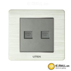 Bộ ổ cắm đôi điện thoại Uten V6-G-2TEL