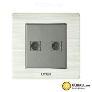 Bộ ổ cắm đôi tivi Uten V6-G-2TV