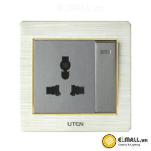 Bộ công tắc 2 chiều và ổ cắm 3 chấu Uten V6-PGK12Z13/N