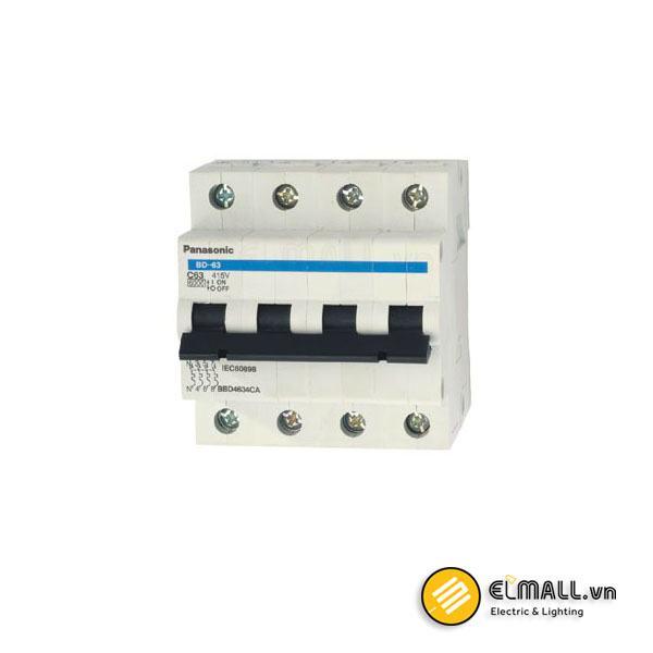 MCB 4P C Curve 80A 400VAC 10kA BBD308031C Panasonic
