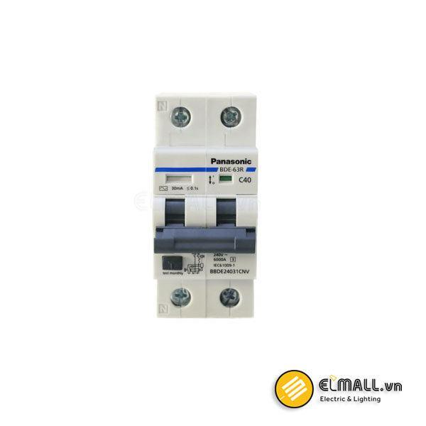 RCCB 2P 32A/40A 30mA 6kA 240VAC Panasonic