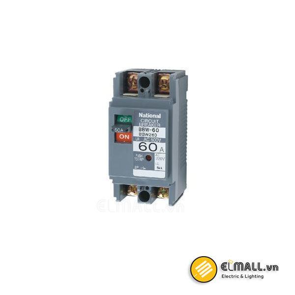 MCCB 2P 60A 10kA BBW260Y 200VAC/415VAC Panasonic