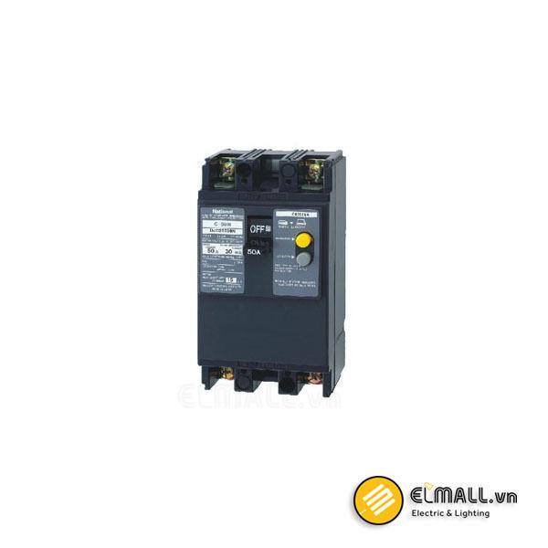 MCB 2P 50A 30mA 2.5kA 240VAC BKW2503Y Panasonic